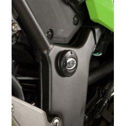 Insert de cadre droit R&G RACING noir Kawasaki Z300/Ninja 300/ZX250R Ninja