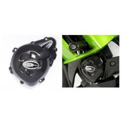 Couvre-carter gauche R&G RACING noir Kawasaki Z1000/SX