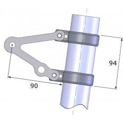 Support de phare LSL Clubman avec support clignotant pour fourche inversée inox universel Ø50/55mm