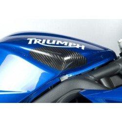Sliders de réservoir R&G RACING carbone Triumph Daytona/Street Triple 675