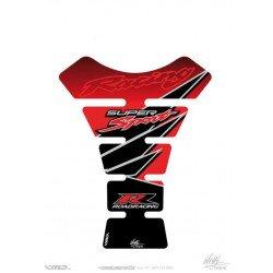 Protection de réservoir MOTOGRAFIX 1pc rouge Honda