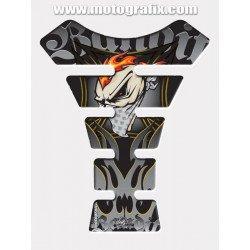 Protection de réservoir MOTOGRAFIX Street Style 4pcs gris/noir Suzuki Bandit