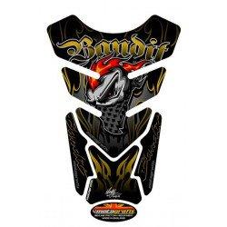 Protection de réservoir MOTOGRAFIX Street Style 4pcs noir/or Suzuki Bandit