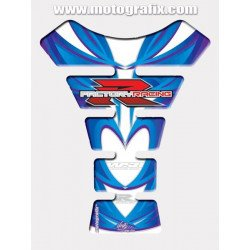 Protection de réservoir MOTOGRAFIX 1pc blanc/bleu Suzuki