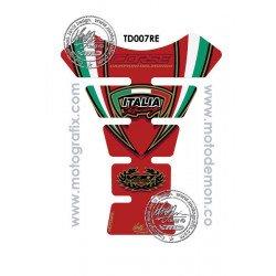 Protection de réservoir MOTOGRAFIX 1pc rouge Ducati