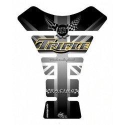 Protection de réservoir MOTOGRAFIX 1pc Triple noir Triumph