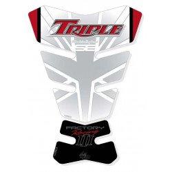 Protection de réservoir MOTOGRAFIX 2pcs blanc Triumph
