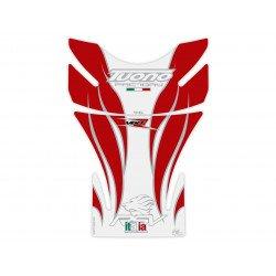 Protection de réservoir MOTOGRAFIX 2pcs blanc/rouge Aprilia Tuono