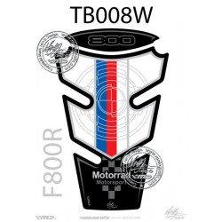 Protection de réservoir MOTOGRAFIX 2pcs bleu/rouge/blanc BMW F800R