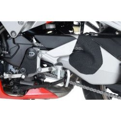 Adhésif anti-frottement R&G RACING platines repose-pieds/bras oscillant noir 3 pièces Honda VFR800F/800X Crossrunner/Crossrunner