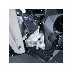 Adhésif anti-frottement R&G RACING platine talon noir (2 pièces) Honda CBR250RR
