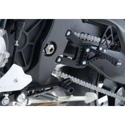 Commandes reculées multi-positions R&G RACING noir Yamaha R1/R1M