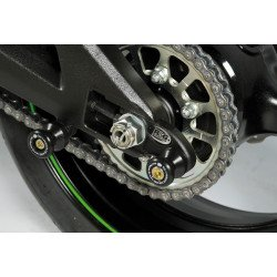 Pions de bras oscillant R&G RACING avec platine noir Kawasaki SX10R