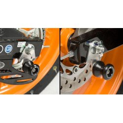Pions de bras oscillant R&G RACING avec platine noir Honda CBR125R