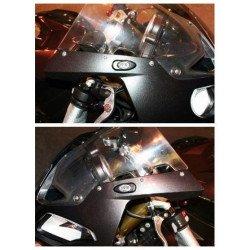Caches orifice rétroviseur R&G RACING noir BMW S1000RR