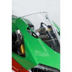 Caches orifice rétroviseur R&G RACING noir Ducati Panigale 1199