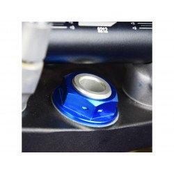 Ecrou de colonne de direction SCAR bleu Yamaha YZ125/250
