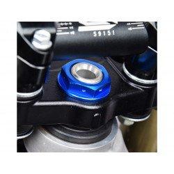 Ecrou de colonne de direction SCAR bleu Kawasaki KX250F