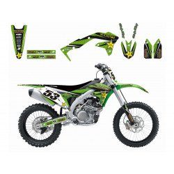 Kit déco BLACKBIRD Rockstar Energy Kawasaki KX450F