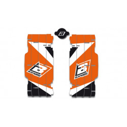 Kit déco de cache radiateur BLACKBIRD Dream Graphic 3 orange KTM
