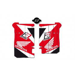 Kit déco de cache radiateur BLACKBIRD Dream Graphic 3 rouge Honda CRF450R