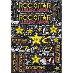 Planche de stickers BLACKBIRD Rockstar Energy