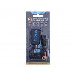 Chargeur USB OXFORD USB 2.1amp. Connection sur batterie