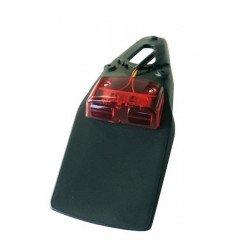 Extension de garde-boue arrière BIHR noir avec feu LED