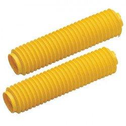Soufflets de fourche CEMOTO jaune Ø38mm - 350mm