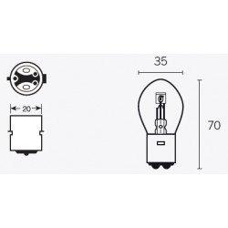 Ampoule V PARTS B35 6V/35/35W culot BA20d 10pcs