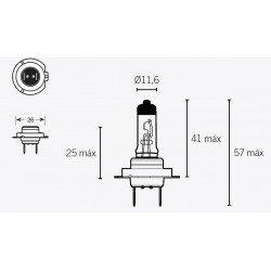 Ampoule V PARTS H7 12V/55W culot P26d 10pcs