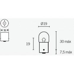 Ampoule V PARTS R5 12V/5W culot BA15s 10pcs