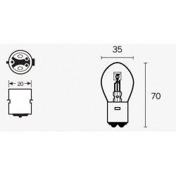 Ampoule V PARTS S1 12V25/25W culot BA20d 10 pcs