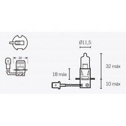 Ampoule V PARTS H3 12V/55W culot PK22s 10pcs