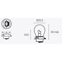 Ampoule V PARTS S3 6V/15W culot P26s 10pcs