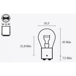 Ampoule V PARTS S25 12V/21/5W culot BAY15D 10pcs