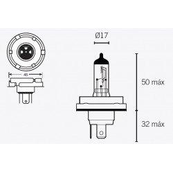 Ampoule V PARTS H5 12V/60/55W culot P45t 10pcs