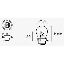 Ampoule V PARTS SB25 12V/15W culot P26s 10pcs