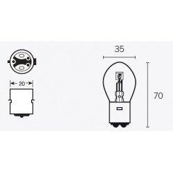 Ampoule V PARTS S2 12V/40/45W culot BAY15d 10pcs