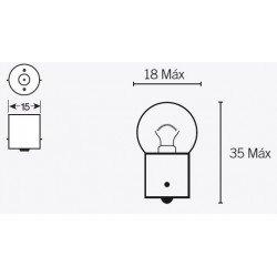 Ampoule V PARTS G18 6V/10W culot BA15s 10 pcs