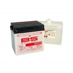 Batterie BS BATTERY 52515 (B60N30L-A) conventionnelle livrée avec pack acide