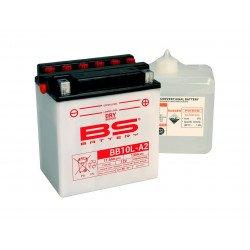 Batterie BS BATTERY BB10L-A2 haute performance livrée avec pack acide