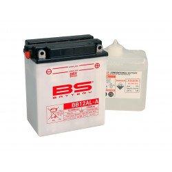 Batterie BS BATTERY BB12AL-A haute performance livrée avec pack acide
