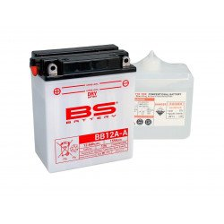 Batterie BS BATTERY BB12A-A haute performance livrée avec pack acide
