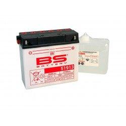 Batterie BS BATTERY 51913 (12C16A-3A) conventionnelle livrée avec pack acide