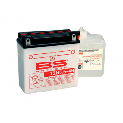 Batterie BS BATTERY 12N5.5-4B conventionnelle livrée avec pack acide