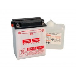 Batterie BS BATTERY 12N12A-4A-1 conventionnelle livrée avec pack acide