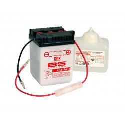 Batterie BS BATTERY 6N4-2A-4 conventionnelle livrée avec pack acide