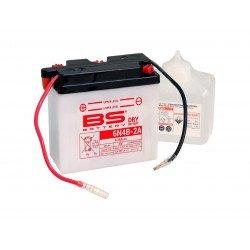 Batterie BS BATTERY 6N4B-2A conventionnelle livrée avec pack acide