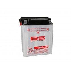 Batterie BS BATTERY 12N14-3A conventionnelle livrée avec pack acide